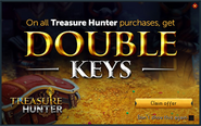 Treasure Hunter double keys promo