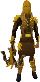 Golden Karil the Tainted's equipment equipped