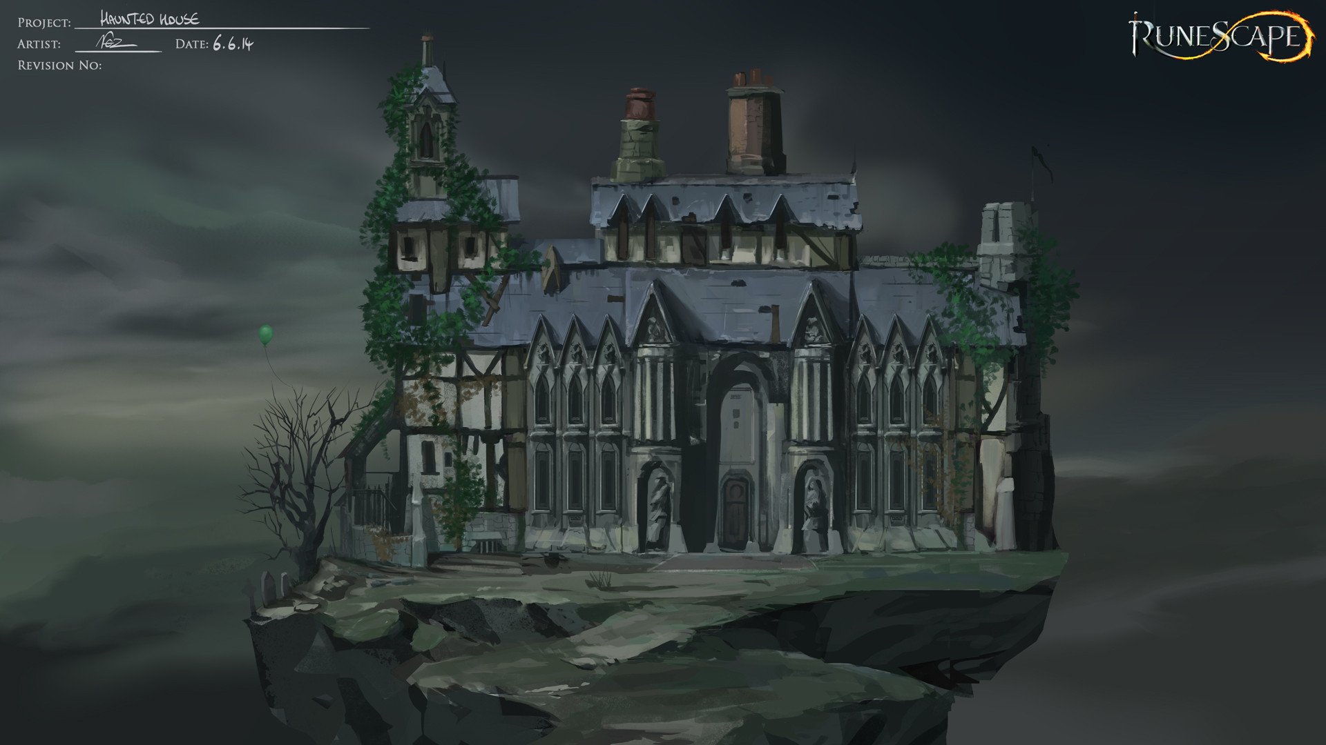Haunted House Concept Art
