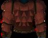 Werewolf torso (red, male) detail