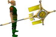 Banner of the Godless (tier 4) equipped