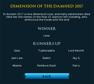 Dimension of the Damned Statue interface