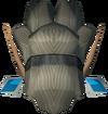 Elf-style wig (silver, female) detail