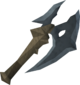 Gorgonite battleaxe detail