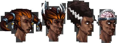 Hallowe'en hair concept art