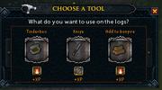 Logs choose a tool