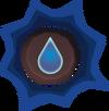 Prepared water rune detail