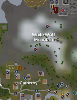 White Wolf Mountain map