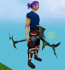 Augmented Ahrim's staff equipped