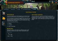 Community (Valkyrie's Return) interface 3