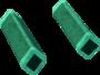 Green diamond key detail