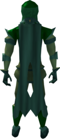 Lunar cape (green) equipped