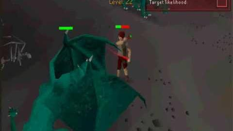 Runescape Green dragon killing only using dds