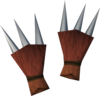 Werewolf claws (red, female) detail
