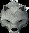 Werewolf mask (white, female) detail