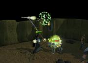 Fighting Skeletal hellhound