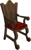 Mahogany armchair built