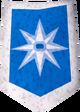 Rune kiteshield (Asgarnia) detail