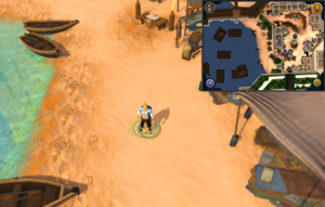 Scan clue Menaphos Worker district middle of beach