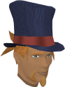 Top hat (blue) chathead