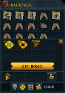 Curreny pouch (main) interface