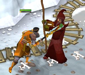 Jogador lutando contra Solus