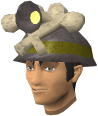 Mining helmet chathead