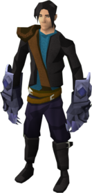 Mithril claws equipped
