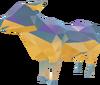 Precious rhinestone cow detail