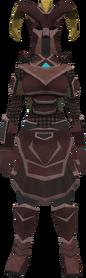 Promethium chain armour set (sk) (female) equipped