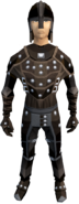 Studded leather armour (male) equipped