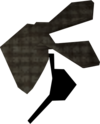 Bandana and eyepatch (grey, left) detail