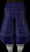 Blue elegant legs detail