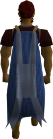 Cape (blue) (Stealing Creation) equipped