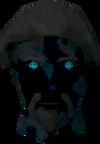 Ghostly farmer head detail