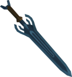 Off-hand rune sword detail