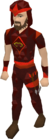 Zamorak dragonhide blessed set equipped old