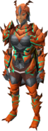 Kalphite Sentinel outfit equipped (female)