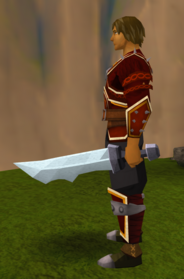 Off-hand steel ceremonial sword V equipped