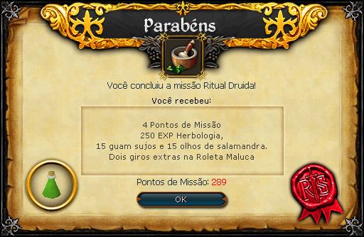 Ritual Druida recompensas