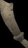 Rusty scimitar detail