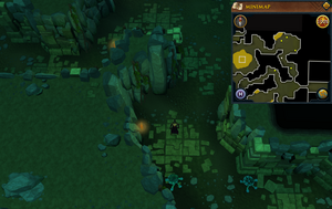 Scan clue Brimhaven Dungeon lower level north-west of entrance