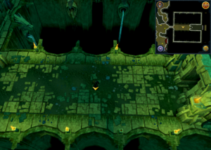 Scan clue Brimhaven Dungeon lower level west of entrance