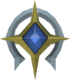Silver Saradominist token detail