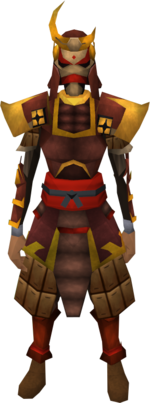 Tetsu armour set equipped (female)