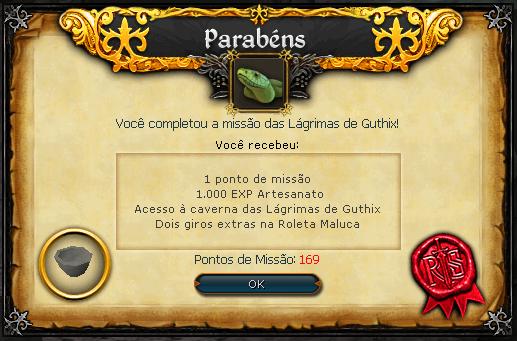 As lágrimas de Guthix recompensas