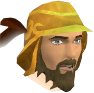 Golden mining helmet chathead