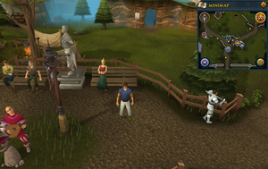 Map clue location Falador statue crossroads