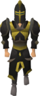 Elite black armour equipped old