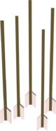 Flighted ogre arrow detail